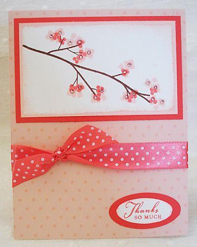 Cherry blossom thank you